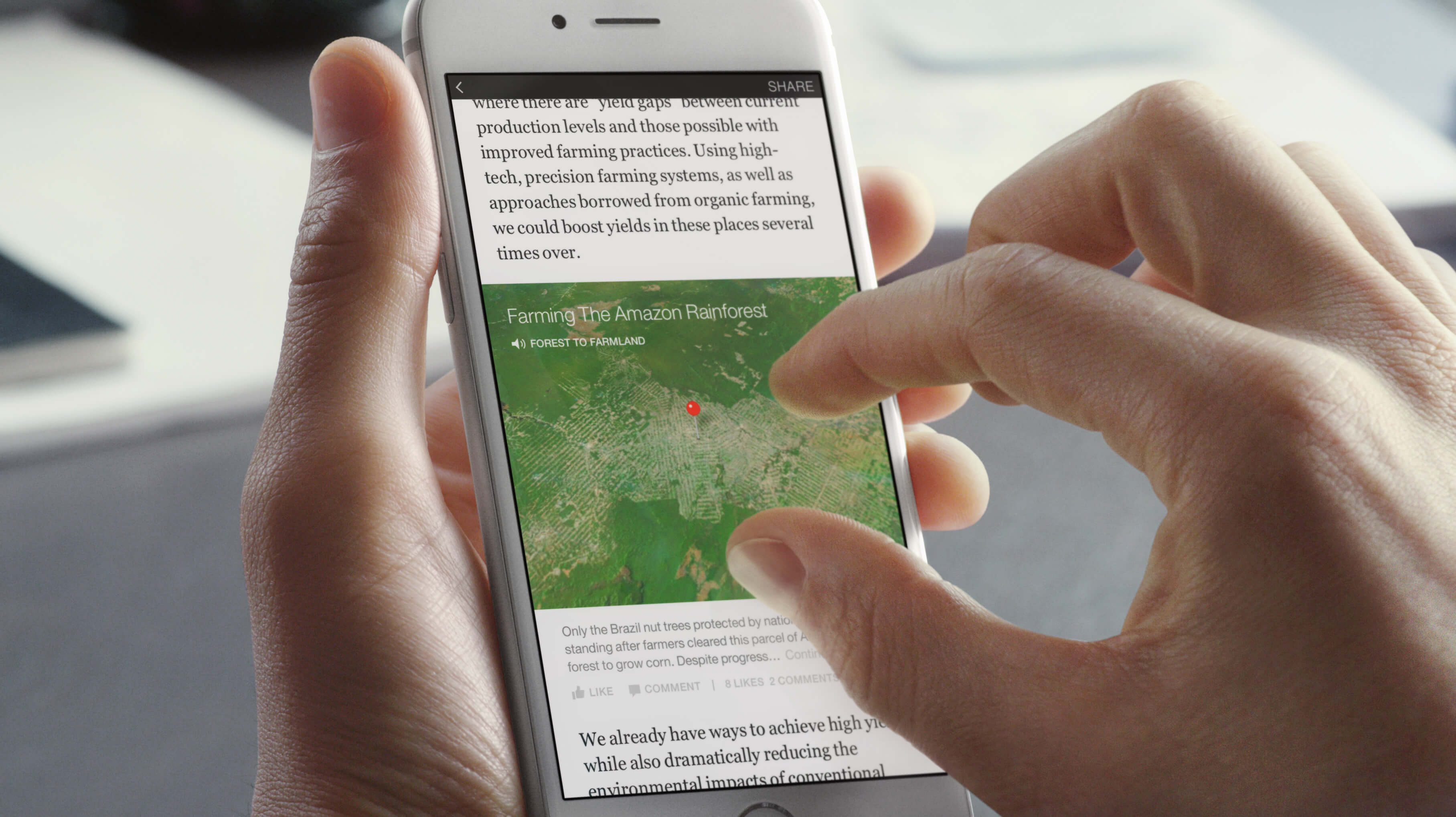 Maps in Facebook Instant Articles