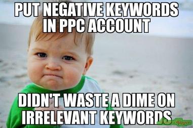 PPC Negative Keywords Cost Meme