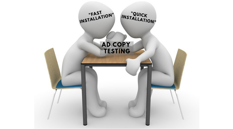 Ad copy testing in PPC advertising
