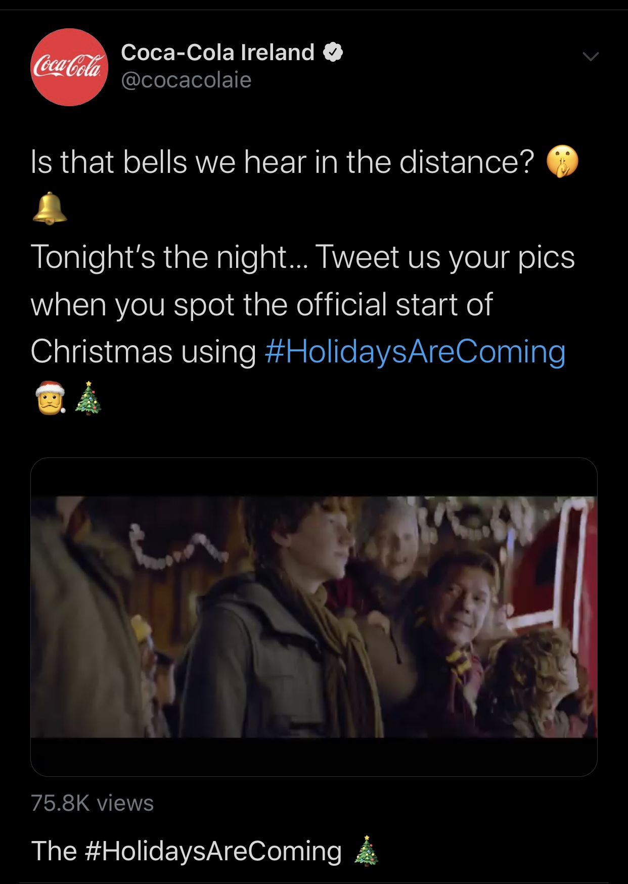 Twitter christmas ads