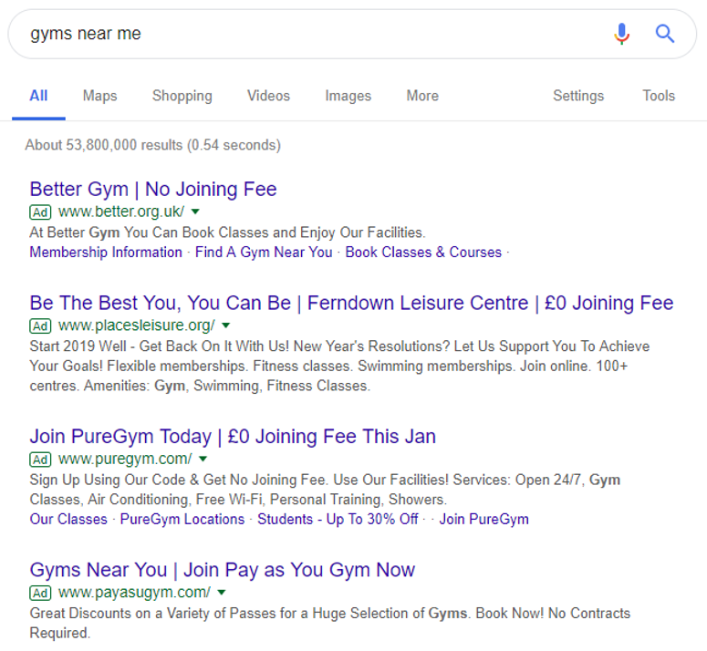 Examples Of Taking Advantage Of Space in the SERP