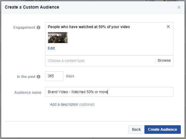 create a custom audience facebook