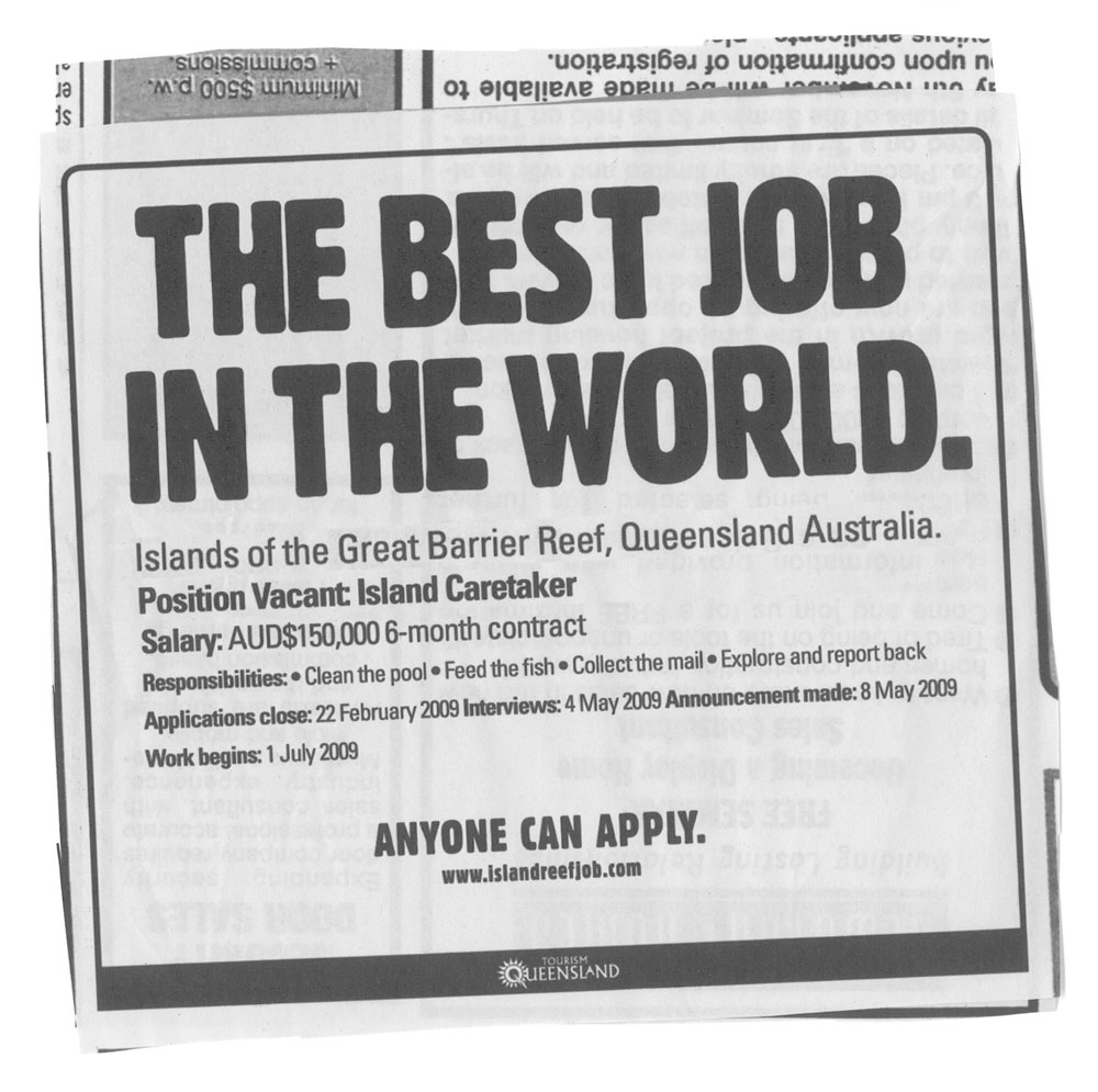 tourism queensland the best job in the world