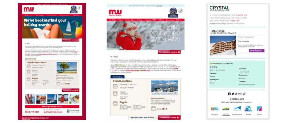 travel abandon email examples