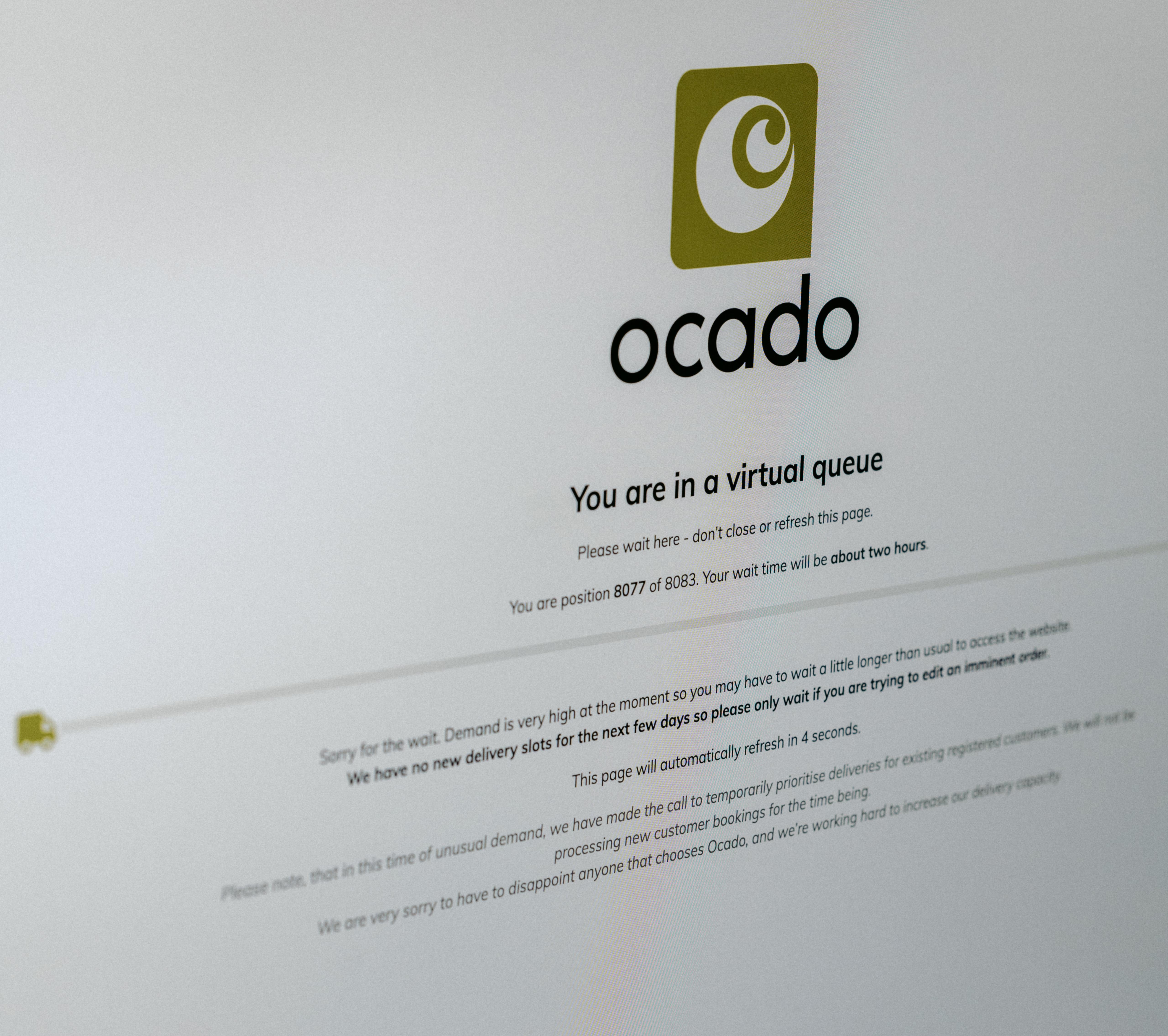 OCADO ONLINE SHOPPING COVID-19