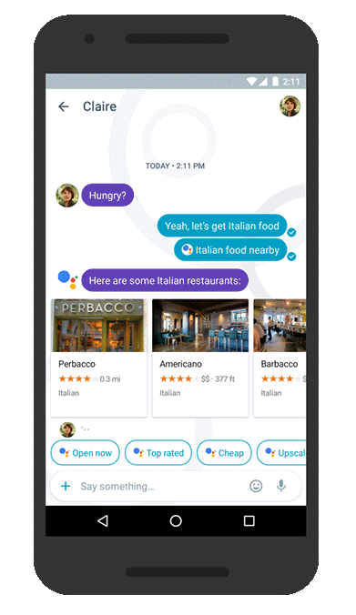 Google Allo example