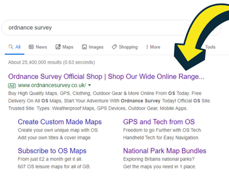 ad truncation on a brand search