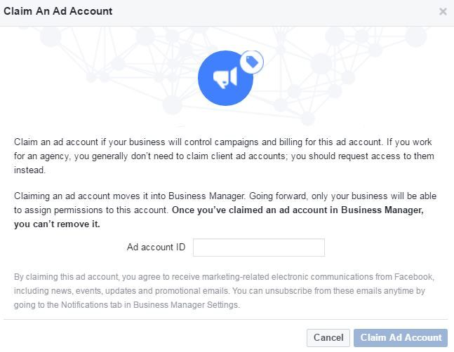 Claim Facebook Ad Account